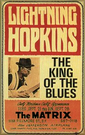 "Lightning Hopkins, ""King of the Blues"" : affiche"